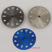 28.5mm pure sterile gray blue dial fit ETA 2824 2836 mingzhu 2813 mens watch