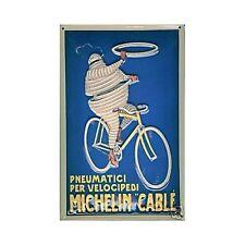 targa in metallo uomo Michelin in bicicletta