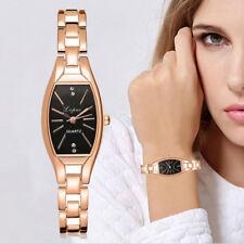 Fashion Ladies Women's Unisex Stainless Steel Rhinestone Quartz Wrist Watches