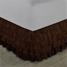 "1 LIGHT PURPLEGYPSY SOLID MULTI RUFFLE DRESSING BED SKIRT WITH PLATFORM 20/"" DROP"