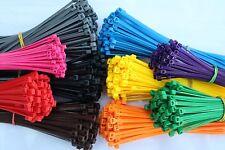 100 Stück Kabelbinder farbig bunt zB. Gelb Rot Braun Grün Grau Blau Orange Pink