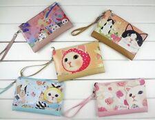 Makeup Cosmetic Bag Case Purse Cute Alice Choo Choo Cat Kitty Kawaii Jetoy strap