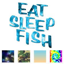 Eat Sleep Fish Fishing - Decal Sticker - Multiple Patterns & Sizes - ebn1142