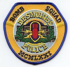 DES MOINES IOWA IA colorful BOMB SQUAD POLICE PATCH