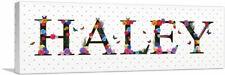 ARTCANVAS HALEY Girls Name Room Decor Canvas Art Print