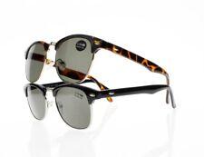 Classic Square Frame Horned Rim Aspheric Tinted Lens Sunglasses Reading Glasses