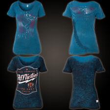 AFFLICTION T-Shirt Speeder Rev. Blau T-Shirts Damen  affliction Speeder