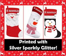 Personalised Santa Father Christmas Snowman Penguin Sack Stocking Children Gift