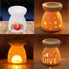Ceramic Night Fragrance Lamp Oil Burner Light Candle Wax Melt Aromatherapy Stove