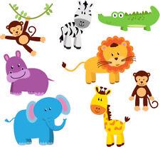FUN ANIMAL STICKERS MONKEY LION CHILD KIDS VINYL DECAL BATH WALL LAPTOP WINDOW