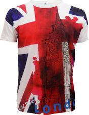 Union Jack Sublimation Imprimé frontale complète T-shirt / / LONDRES / Big Ben / SOUVENIR / top / tee