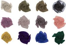 Elegant Écharpe Mousseline Hijab Châle Enveloppant Souple Coulant Drapé
