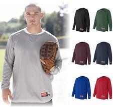 Rawlings Long Sleeve Flatback Mesh XS-5XL Baseball Warmup Sport Pullover 9705