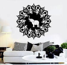 Vinyl Wall Decal Mandala Elephant Hinduism Meditation Stickers Mural (ig4172)