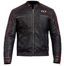 Ducati Real Leather Jacket For Men Biker Cafe Racer Sheep Skin UK Stock