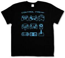 CONTROL FREAK I T-SHIRT Video Game Controller NES Evolution Joystick Gamepad