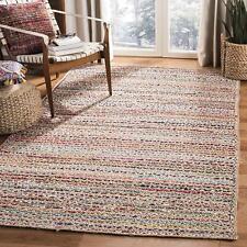 Jute Cotton Rug Braided Reversible Floor Handmade Decorative Carpet Rag Rug