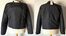 DKNY Women's Asymmetrical Zip Moto Puffer Jacket Donna Karen New York, Steel, XL
