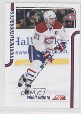 2011-12 Score #248 Brian Gionta Montreal Canadiens Hockey Card