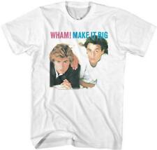 Wham! George Michael Andrew Ridgeley Pop Rock Musical Duo Band Concert T-Shirt 3