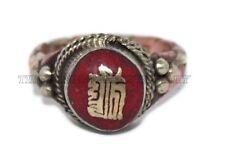 Coral Ring Boho Ring Tribal ring Tibetan ring Gypsy ring Om ring Copper Ring