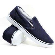 Mens Ladies Boys Sailor Slip On Canvas Espadrilles Deck Plimsolls Trainers Shoes