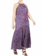 Womens Plus Size 16 18 20 22 Maxi Dress Draw Waist Summer Dresses Multi floral