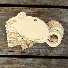 10x de madera forma de cola de ratón Rizado 3 mm capas Animales de Vida Silvestre de artesanía Roedores