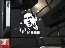 "Soccer World Star Messi Vinyl Car Decal Sticker  5.75"" (h) x 5.25"" (w)"