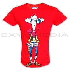 T-Shirt LUCKY LUKE Lizenz Shirt rot red Comic Morris - Kult Western Cowboy