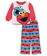 91a2f14e91 Sesame Street Boys  Elmo and Cookie 2-Piece Fleece Pajama Set