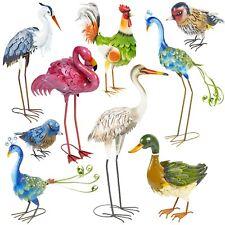Decorativo IN Metallo Uccelli da Esterno Tempo Resistente Stagno Prato