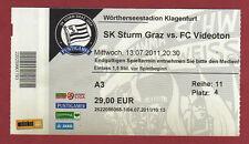 Original TICKET CHAMPIONS LEAGUE 11/12 SK Sturm Graz-Videoton FC!!!