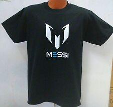 Lionel Messi Soccer T-shirt Custom Black Unisex Adult Argentina Barcelona