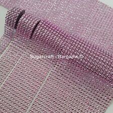 BABY PINK Diamante Bling Sparkling Diamond Effect Wedding Cake Craft Trim Ribbon