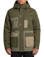 Volcom Renton Winter 5K Parka Jacket in Army Green Combo