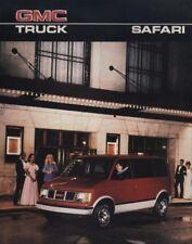 1986 GMC Safari Van Original Sales Brochure Book