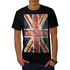 Wellcoda UK Flag Tower Wellcoda Mens T-shirt, UK Graphic Design Printed Tee
