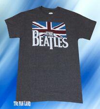 New The Beatles Union Jack Logo Mens Retro Vintage T-Shirt