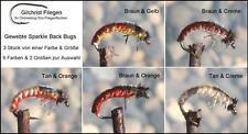 GILCHRIST FLIEGEN. Gewebte Sparkle Back Bugs. 3 Stück von einer Farbe & Größe.