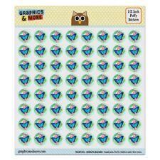 Blue Butterfly Purple Flowers Puffy Bubble Scrapbooking Sticker Set