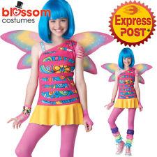 CK1323 Rainbow Fairy Tinkerbell Tweeb Girls Fancy Dress Up Pixie Costume + Wings