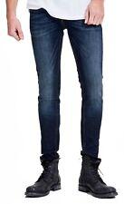 JACK & JONES Jeans Men's Liam Skinny Slim Super Stretch Denim Pants Dark Blue