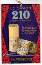 VINTAGE FRENCH AD CARDBOARD SIGN SHAVING SOAP ART DECO CHROMOLITH