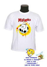 tee shirt enfant foot smiley personnalisable prénom au choix réf 121