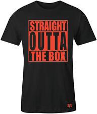 """STRAIGHT OUTTA THE BOX"" T-Shirt to Match Retro 12 ""Max Orange"" Low"