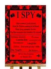 Rosso Nero Damascato mi SPY FOTO CAMERA personalizzata Nozze segno