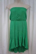 Swim Cover Coco Bianco Sz L Dark Mint Green Strapless Beach Wear Cover Up Dress