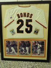 BARRY BONDS FRAMED JERSEY & 2 MLB CARDS