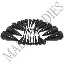 V062 Black Ear Stretchers Tapers Expendars 14 12 10 8 6 4 2 0 00 G Gauges n Kit
